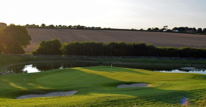 Weybrook Park Golf course in Hampshire countryside near Basingstoke